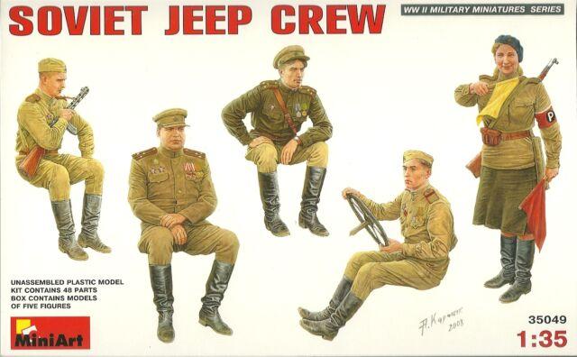 MiniArt 35049 Soviet Jeep Crew  - russische Jeep Besatzung - 1:35