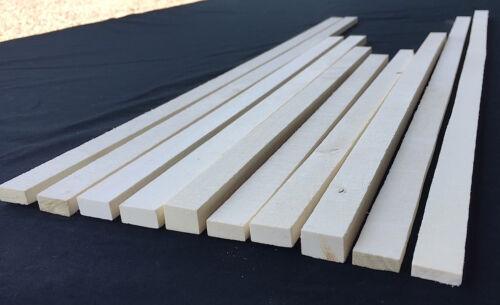 "Premium American Holly cutoffs / thins lumber (10-pc) - 1/4""-3/8""T x 24""-36""L KD"