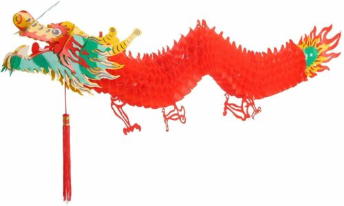 3D Chinese New Year Dragon Garland Hanging Decoration (6.6 Feet)