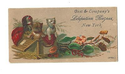Old Trade Card Best & Company Liliputian Bazaar New York Child's Clothing Store