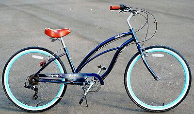 Fito Marina Alloy 7-speed Midnight blue Aluminum Light Weight Beach Cruiser Bike