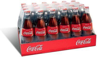 Coca Cola Coke 24 x 330ml Glass Bottles BBE: 31/05/20