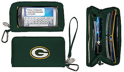 New Touch Screen  Smartphone Wallet NFL Licensed GREEN BAY PACKERS Green gift Green Touch Screen