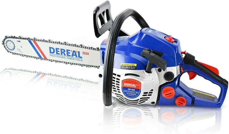 DEREAL Pro 3816S 38CC-2-Cycle Updated Version Gas-Chainsaw, 14-Inch Gas