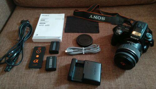 Digitale Spiegelreflexkamera Sony Alpha33 SLT-A33mit Tasche und Zubehörpaket