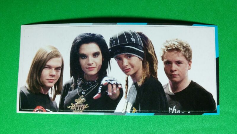 """TOKIO HOTEL GROUP BAND PHOTO HAT POINTING MUSIC SMALL 1.5""""x3.5"""" STICKER"""