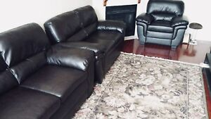 4 Piece Genuine Leather Sofa Set