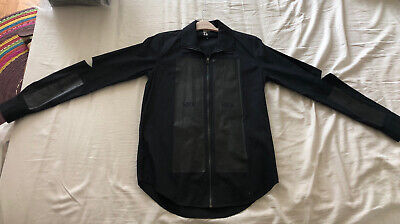 Hood by air Zip Long Shirt Black Color . Size S