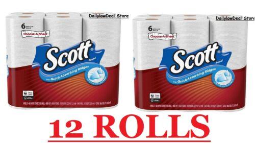 Scott Paper Towels Choose-A-Sheet 12 Regular Rolls Towel