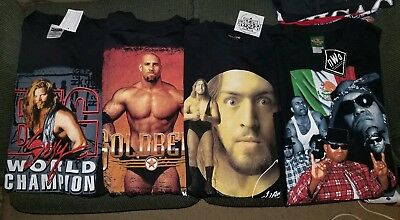 Vintage 90s WCW T Shirt Lot Sz Large The Giant Konnan Nash NWO Goldberg WWE WWF