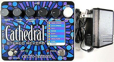 Used Electro Harmonix Ehx Cathedral Stereo Reverb Guitar Effects Pedal