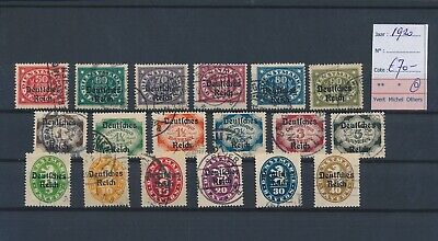 LL96718 Germany 1920 Reich Bayern service fine lot used cv 70 EUR