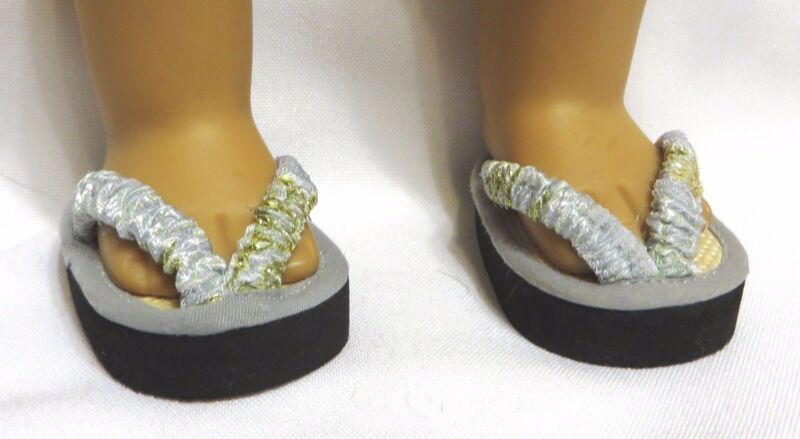 """JAPANESE TATAMI SANDALS for 18"""" Doll i.e. AMERICAN GIRL, OUR GENERATION etc."""