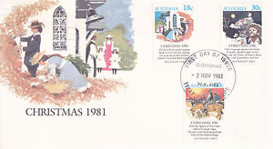 1981 Christmas  FDC - Complete Set On 1 Cover