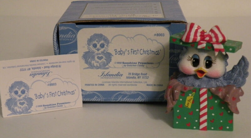 "Sonshine Promises 8003 "" BABY'S FIRST CHRISTMAS"" 2 1/2"" Tall"