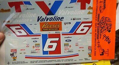 Slixx NASCAR 9406 MARK MARTIN VALVOLINE REESES TBIRD 1/24 Waterslide Decals