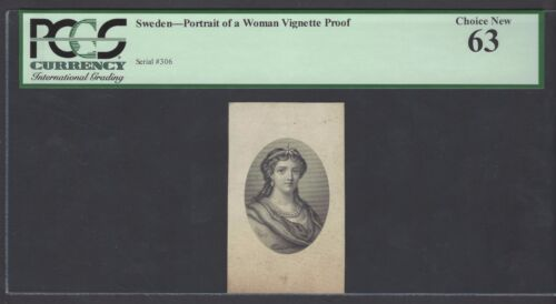 Sweden Vignette Proof Portrait of Woman Used on date 1902 PS593-S594