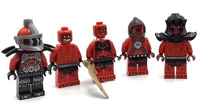 LEGO LOT OF 5 NEXO KNIGHT MINIFIGURES CASTLE RED EVIL MONSTER FIGS