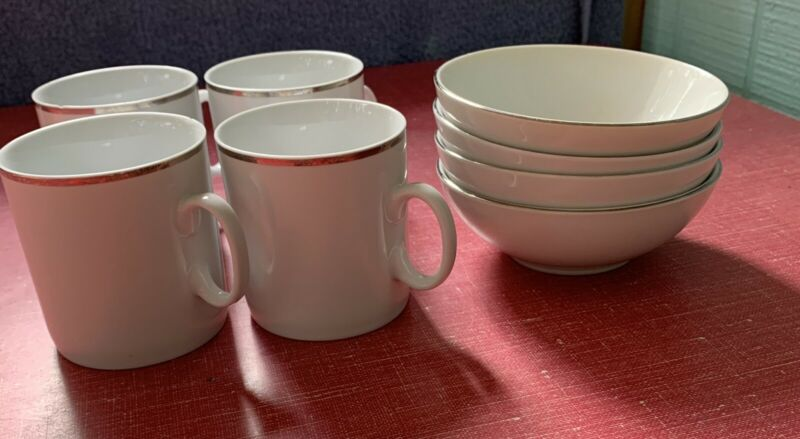 REGO for Eastern Airlines And EAL Cups And Bowls 4 Each Vintage