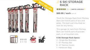 Support à 6 paires de ski