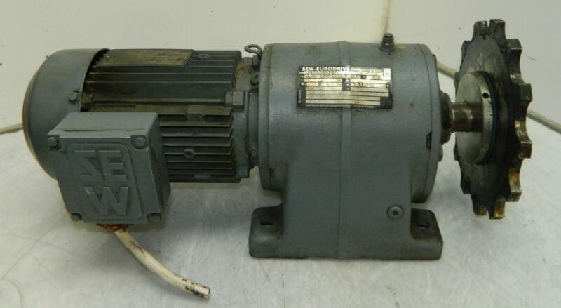 Sew-Eurodrive Motor and Gearbox, R60-DT80K4, w/ Sew Gear Drive, Used,  WARRANTY