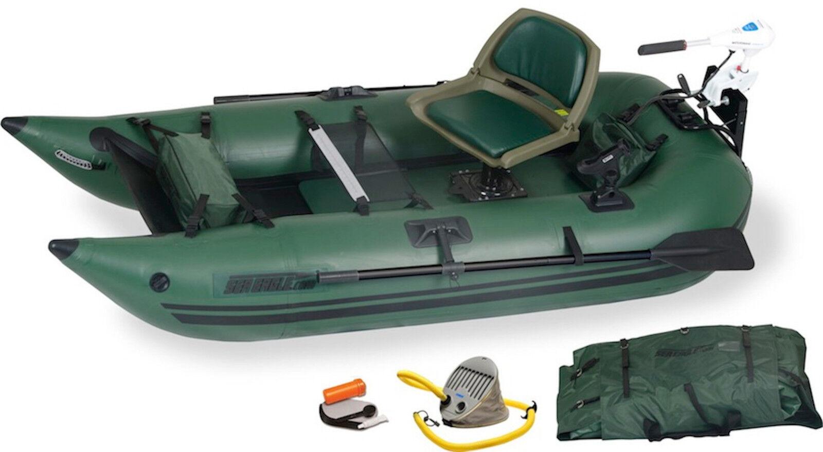 Sea Eagle 285 FPB Watersnake Motor Pkg Inflatable 9 Ft Ponto