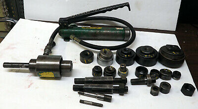 Greenlee Model 767 Hand Pump 746 Hydraulic Knockout Punch Driver Set Wextras