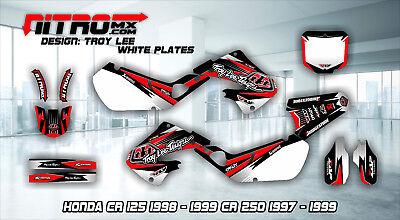 Honda Graphics Kit Decals Design Stickers CR 125 1998-1999 CR 250 1997-1999 MX