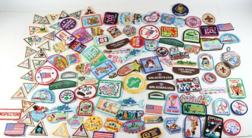 Vintage LOT of MIXED Girl Scouts Cub Scouts Boy Scouts of America BSA Patches