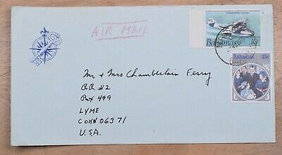 Mayfaristamps Bahamas 1985 to Lyme CT Airmail Cover wwp10569