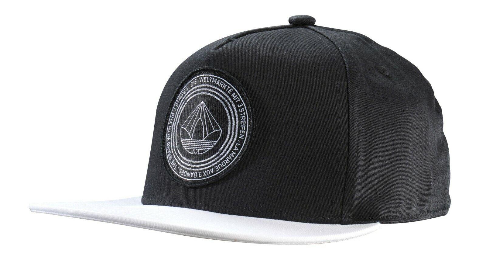 Adidas BK7371 Snapback Cap Cappy Black & White OSFM OSFW Herren Damen
