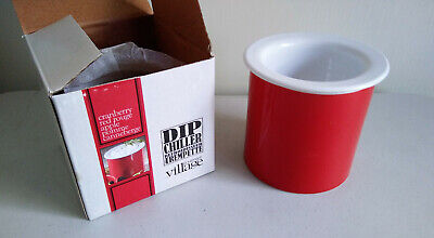 Gourmet Village Dip Chiller (2 Cups) New In Box - Red Rouge / -