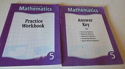 Houghton Mifflin Mathematics Grade 5 Practice Workbook+Answer Key Education