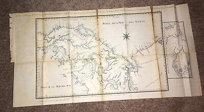 1866 Sketch Map Parte de la Mar del Sur Golf de St Miguel Rio Grande Rio Congo