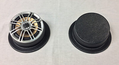 6.5 Speaker Pods - Angled, Round With Mounting Flange Round Speaker Enclosure