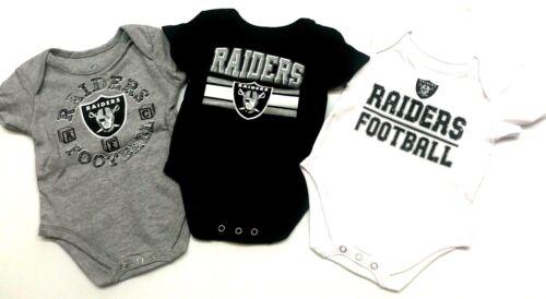 NFL Las Vegas Oakland Raiders, 3 Piece Creeper Set, white/gray/black color