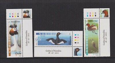Namibia - 2011, Grebes of namibia, Birds set - MNH - SG 1172/4