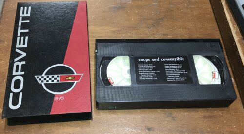 1990 CHEVROLET CORVETTE FACTORY NEW CAR OWNER DEALER VERSION VIDEO VHS TAPE 90