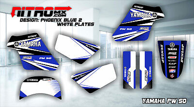 (YAMAHA PW 50 PW50 PEE WEE Graphics Kit Decal Design Stickers Motocross MX Enduro)