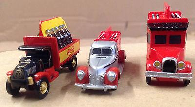 3 Stück Coca Cola Mini Trucks Mini LKW Modellautos ca. 4,5 cm