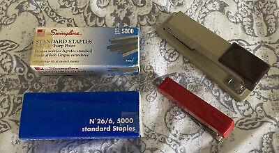 Vintage Stapler Staples Lot Of 2 - Swingline And Rexel Mini Stapler