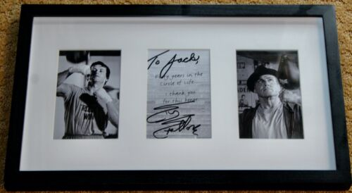 SYLVESTER STALLONE HAND SIGNED CREED/ROCKY FRAMED LIMITED EDITON PHOTOGRAPH