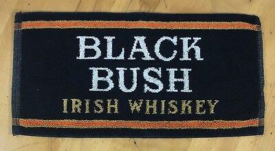 Black Bush Irish Whiskey Beer Towel - Pub Towel - Preowned - Excellent Condition