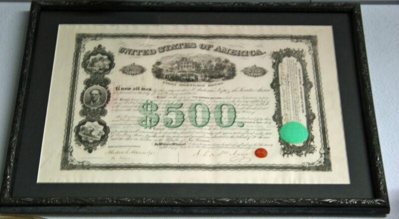 RARE Piece Original 1866 MEXICO SANTA ANA BOND w AUTOGRAPH! COA included