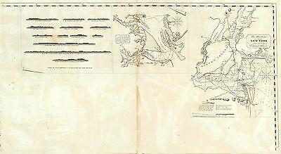 1827 Map New York Harbour Chesapeake Bay Nautical Chart Coastal Survey Poster