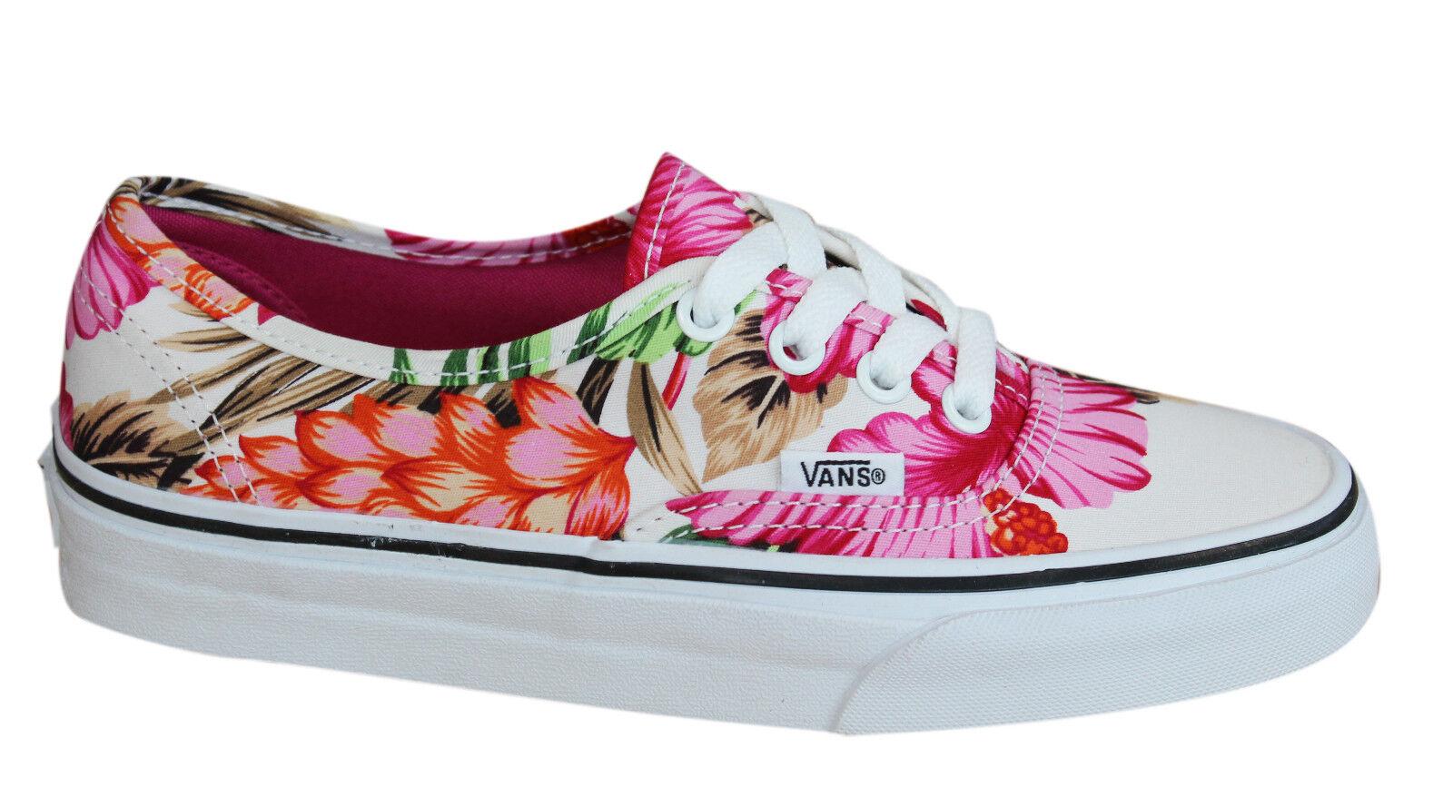 Vans Authentic Flores Hawaianas Blancas con Cordones Hombre Unisex ... 055551d8266
