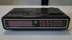 GE Digital Alarm Clock Radio AM/FM Model 7-4612BKB Vintage 80's - WORKS
