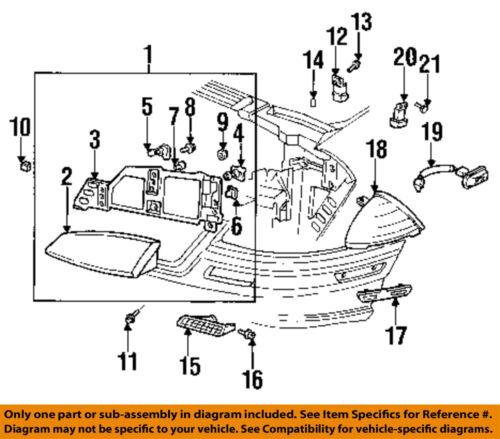 Pontiac GM OEM 92-95 Grand Am-Park/turn Lamp Left 5976473