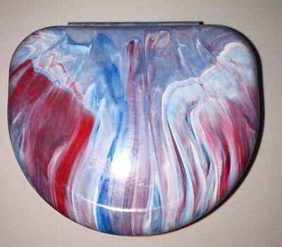 Red/White/Blue Swirl Retainer Case
