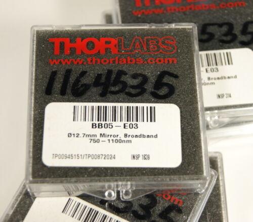 "Thorlabs BB05-E03 1/2"" dia. mirrors for NIR 750-1100nm, 808nm, 1064nm"
